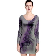 The Power Of Purple Long Sleeve Bodycon Dresses by timelessartoncanvas