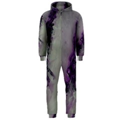 The Power Of Purple Hooded Jumpsuit (men)  by timelessartoncanvas