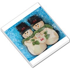Snowman Family Small Memo Pads by timelessartoncanvas