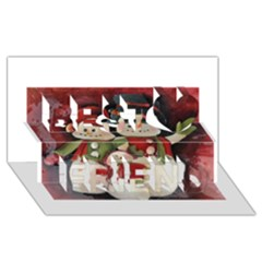 Snowman Family No. 2 Best Friends 3D Greeting Card (8x4)