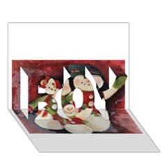 Snowman Family No. 2 BOY 3D Greeting Card (7x5)