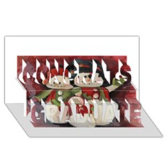 Snowman Family No. 2 Congrats Graduate 3D Greeting Card (8x4)
