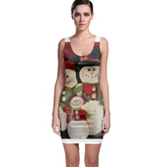 Snowman Family No. 2 Bodycon Dresses