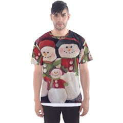 Snowman Family No. 2 Men s Sport Mesh Tees