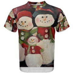 Snowman Family No. 2 Men s Cotton Tees