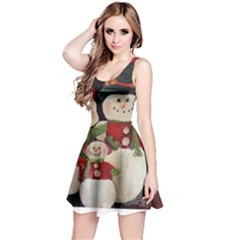 Snowman Family No. 2 Reversible Sleeveless Dresses