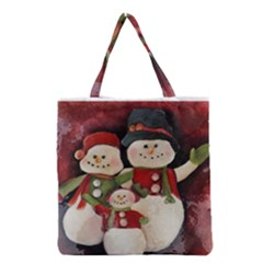 Snowman Family No. 2 Grocery Tote Bags