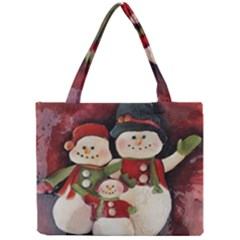 Snowman Family No. 2 Tiny Tote Bags