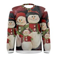 Snowman Family No. 2 Men s Long Sleeve T-shirts