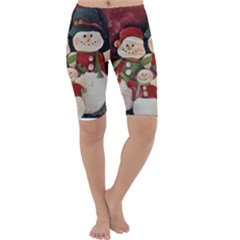 Snowman Family No. 2 Cropped Leggings
