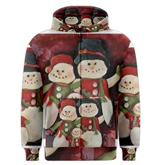 Snowman Family No. 2 Men s Zipper Hoodies