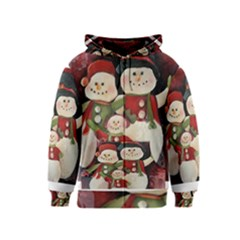 Snowman Family No. 2 Kids Zipper Hoodies