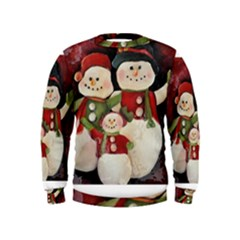 Snowman Family No. 2 Boys  Sweatshirts