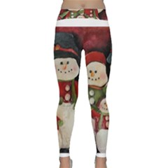 Snowman Family No. 2 Yoga Leggings