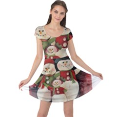 Snowman Family No. 2 Cap Sleeve Dresses