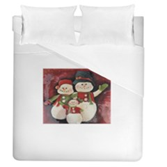 Snowman Family No. 2 Duvet Cover Single Side (Full/Queen Size)