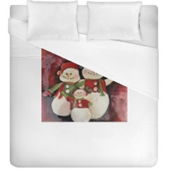 Snowman Family No. 2 Duvet Cover Single Side (KingSize)