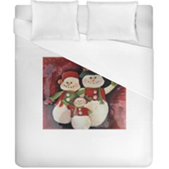 Snowman Family No. 2 Duvet Cover Single Side (Double Size)