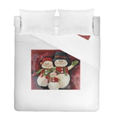 Snowman Family No. 2 Duvet Cover (Twin Size)