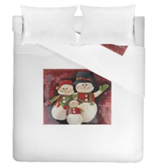 Snowman Family No. 2 Duvet Cover (Full/Queen Size)