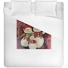 Snowman Family No  2 Duvet Cover (king Size) by timelessartoncanvas