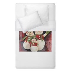 Snowman Family No. 2 Duvet Cover Single Side (Single Size)