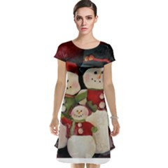 Snowman Family No. 2 Cap Sleeve Nightdresses