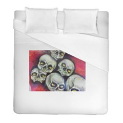 Halloween Skulls No 1 Duvet Cover Single Side (twin Size) by timelessartoncanvas