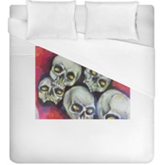 Halloween Skulls No 1 Duvet Cover Single Side (kingsize) by timelessartoncanvas