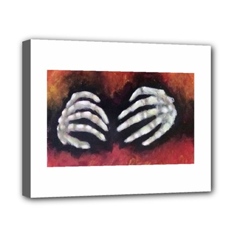 Halloween Bones Canvas 10  X 8