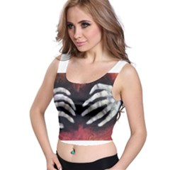 Halloween Bones Crop Top by timelessartoncanvas