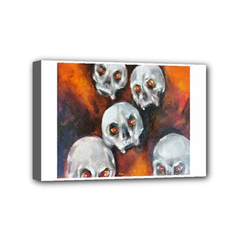 Halloween Skulls No  4 Mini Canvas 6  X 4  by timelessartoncanvas