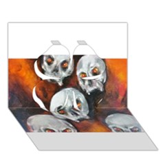 Halloween Skulls No  4 Clover 3d Greeting Card (7x5)