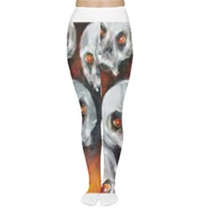 Halloween Skulls No  4 Women s Tights by timelessartoncanvas