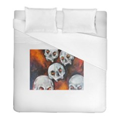 Halloween Skulls No  4 Duvet Cover Single Side (twin Size) by timelessartoncanvas