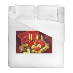 Holiday Candles  Duvet Cover Single Side (twin Size) by timelessartoncanvas