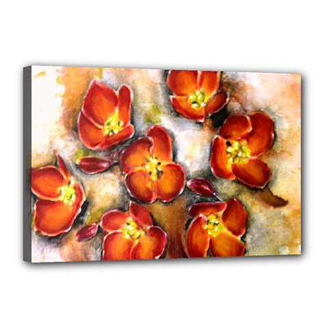 Fall Flowers Canvas 18  X 12  by timelessartoncanvas