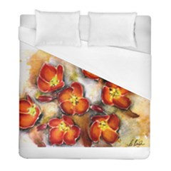 Fall Flowers Duvet Cover Single Side (twin Size) by timelessartoncanvas
