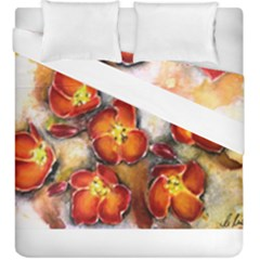Fall Flowers Duvet Cover (king Size) by timelessartoncanvas