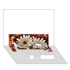 Fall Flowers No  3 Love Bottom 3d Greeting Card (7x5)  by timelessartoncanvas