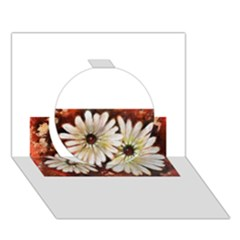 Fall Flowers No  3 Circle 3d Greeting Card (7x5)  by timelessartoncanvas