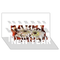 Fall Flowers No  3 Happy New Year 3d Greeting Card (8x4)  by timelessartoncanvas