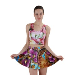 Fall Flowers No  5 Mini Skirts by timelessartoncanvas