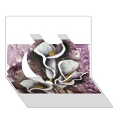 Gala Lilies Heart 3d Greeting Card (7x5)  by timelessartoncanvas