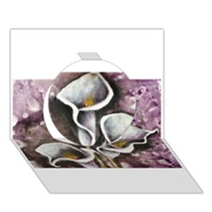 Gala Lilies Circle 3d Greeting Card (7x5)  by timelessartoncanvas