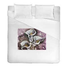 Gala Lilies Duvet Cover Single Side (twin Size) by timelessartoncanvas