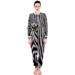 Unique Zebra Design Onepiece Jumpsuit (ladies)  by timelessartoncanvas