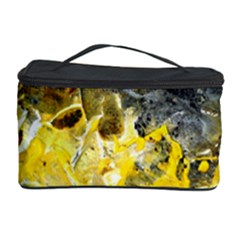 Bright Yellow Abstract Cosmetic Storage Cases by timelessartoncanvas