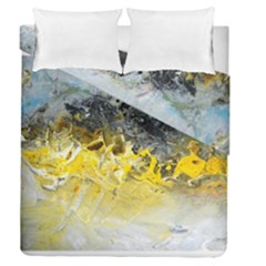 Bright Yellow Abstract Duvet Cover (full/queen Size) by timelessartoncanvas