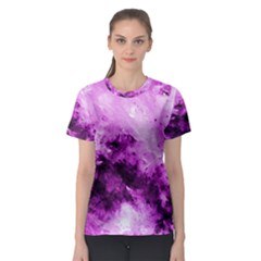 Bright Pink Abstract Women s Sport Mesh Tees